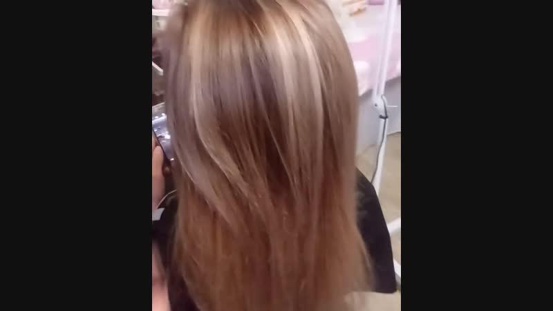 Окрашивание волос технике airtouch парикмахерскиеуслуги YEllow окрашиваниеволосхарьков