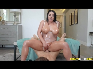 Angela White [Baby Oil, Blowjob, Sex, Cum Shot, Anal Play, Gagging, Hair Pulling, Shaved, Big Tits Worship, Facial]