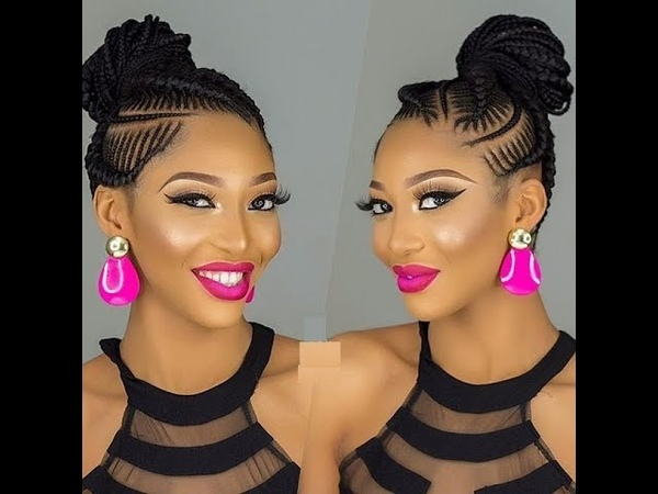 African Cornrows Designs 2018 : Super Chic Hairstyles for Ladies
