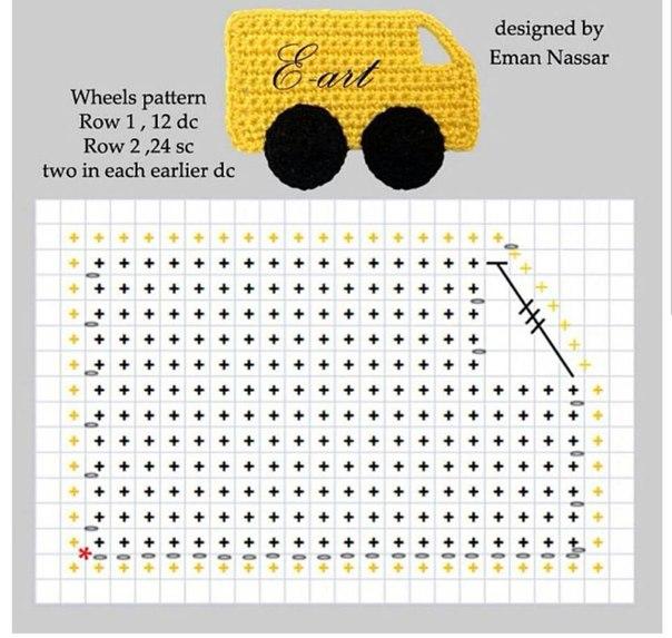 Delicadezas en crochet gabriela aplicaciones autitos - Aplicaciones en crochet ...