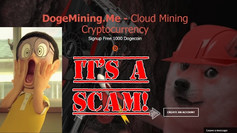 DogeMining.Me Bonus 1000 Doge It's Scam Site Don't Invest Withdraw Incomplete Pay Not