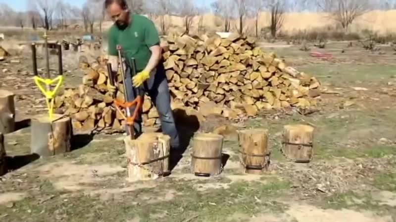 Мега современные технологии для заготовки дров