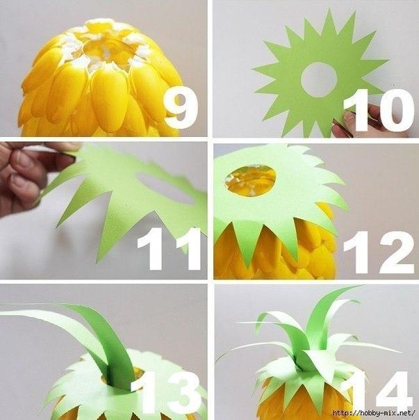 Светильник из ананаса своими руками