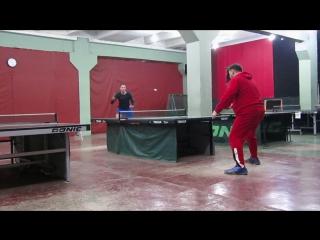 Настольный теннис. г.Запорожье TTC SUPERLIGA . Ночные битвы-спаринги с Радионом Пирвели.Видео №-1