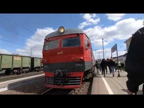 ЭР2К-1059, маршрут Рязань-1 - Узуново Train ER2K-1059, route Ryazan-1 - Uzunovo