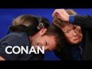 Animal Expert Dave Salmoni Spider Monkey And Coyote Pup CONAN on TBS