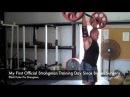 Elliott Hulse, first day strongman training since biceps surgery