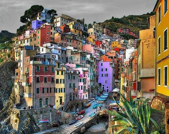 Городок Риомаджоре, Италия