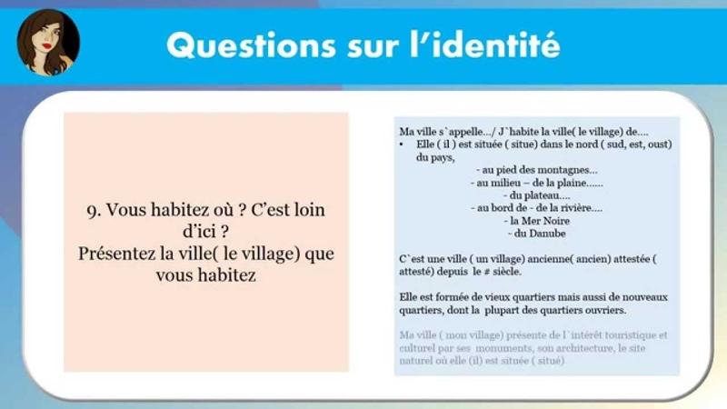 DELF A1 PRODUCTION ORALE DELF A2 PRODUCTION ORALE TCF Quebec