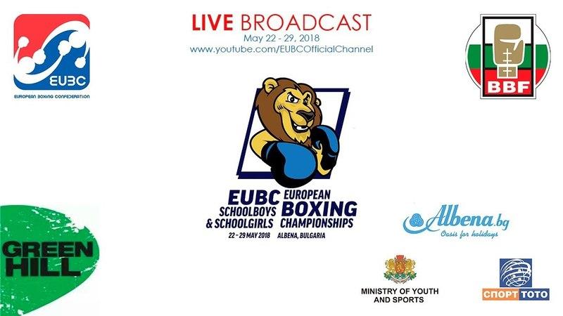 EUBC U15 European Boxing Championships ALBENA 2018 Day 1 Ring B 22 05 2018 @ 16 00