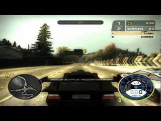 Nfs Most Wanted - Mercedes Benz CLK-GTR Race Version 1998 vs Porsche 911 Turbo [HD].