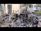 House in Lugansk hit by Ukrainian Shelling - 1