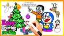 How To Draw Cute Doraemon Nobita Christmas Book | Kids Learn Easy Painting Colors Pages Video233