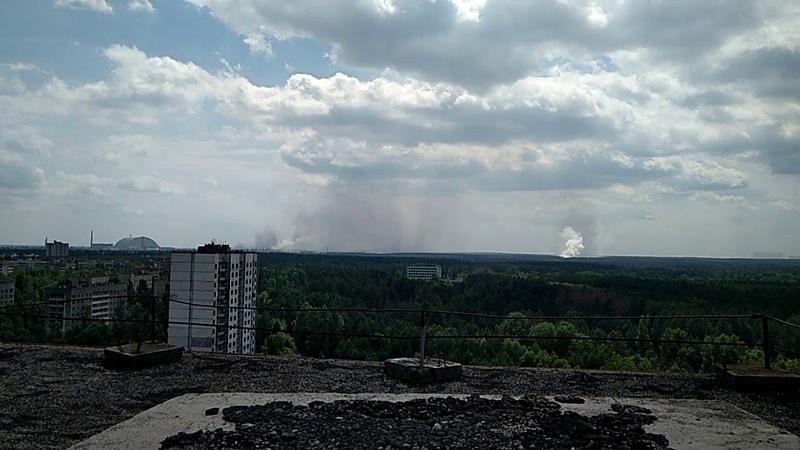 Пожар возле ЧАЭС, город Припять