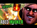 [hOlyhexOr] Abed Invoker Sunstrike and Cataclysm GOD 3x Kill INSANE Play - Dota 2