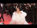 Cannes 2019 Aishwarya looks stunning in white feathered tulle dress