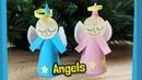DIY Angels figures for Christmas decoration
