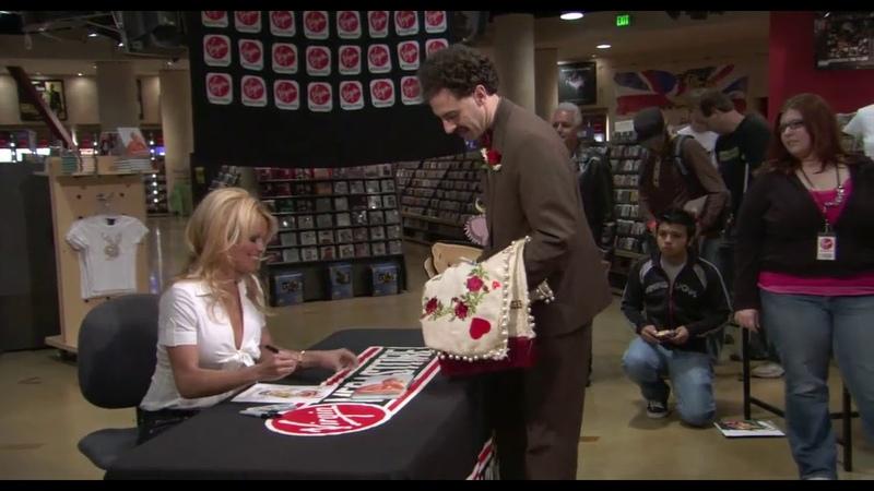 Borat proposes Pamela Anderson