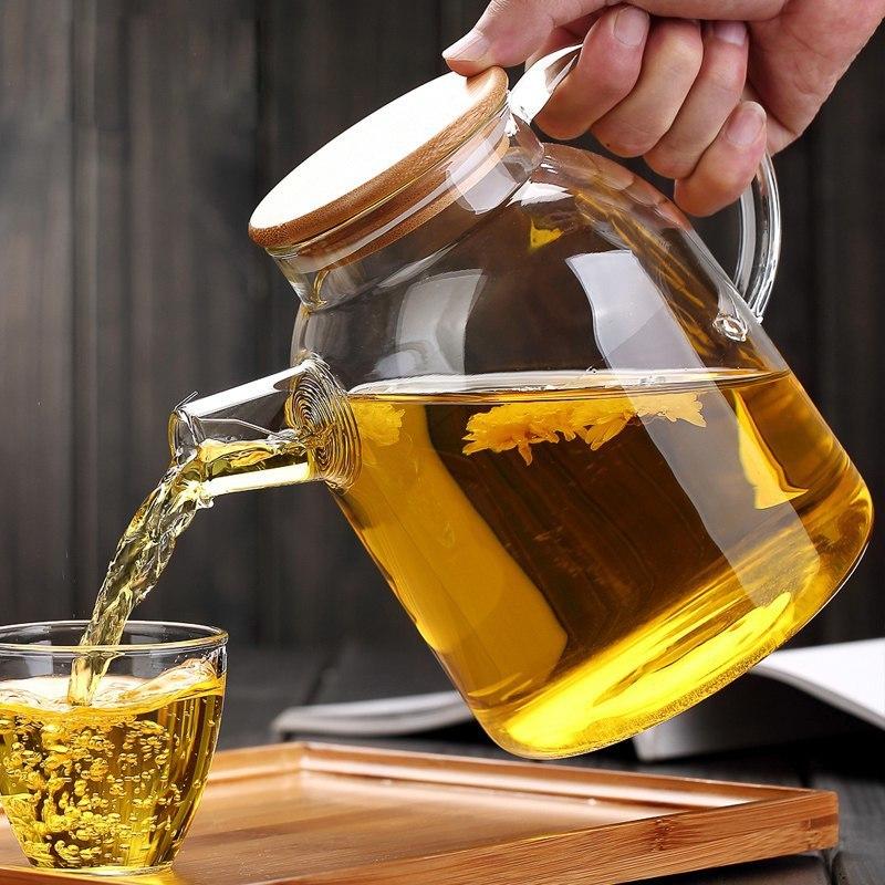 Стеклянный чайник -