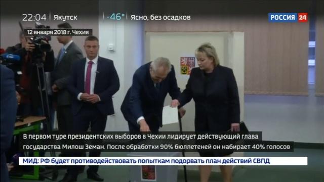 Новости на Россия 24 • Земан готов к дебатам с Драгошем и второму туру