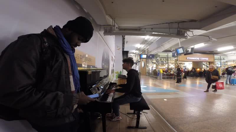 🇫🇷 Парень играет Ed Sheeran Shape of You на вокзале в Лионе Просто огонь