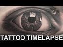 TATTOO TIMELAPSE REALISTIC EYE PORTRAIT CHRISSY LEE