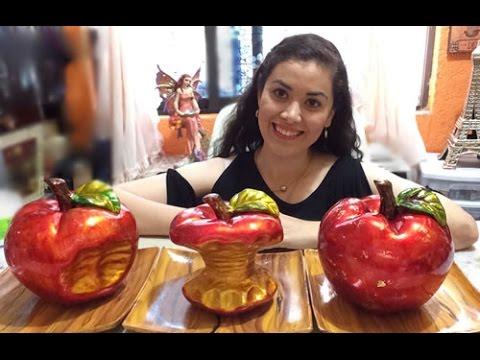 Pinta cerámica Centro de mesa de manzanas *TECNICA DE TINTAS Diana Mano Art