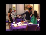 Abhi caught between Pragya and Tanu at Candle Light dinner On location Kumkum Bhagya