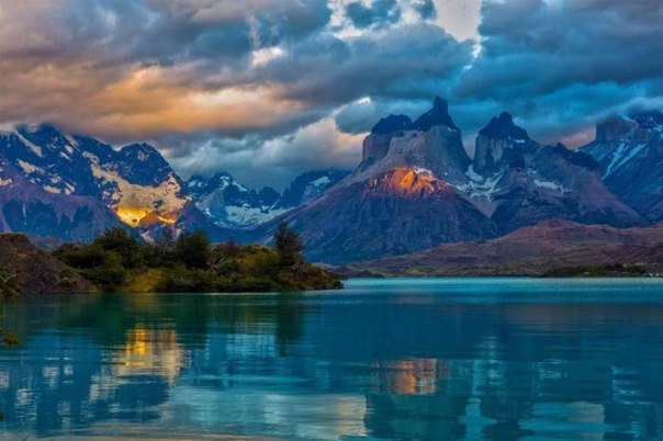 Голубое озеро, Патагония, Аргентина