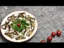 Рулетики из баклажанов с сыром фета и помидорами