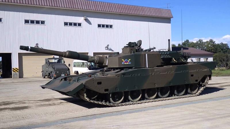 陸上自衛隊 90式戦車 姿勢制御実演