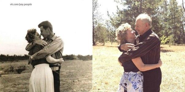 Разница в фото 50 лет