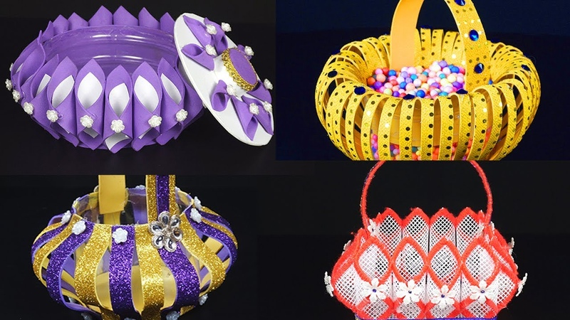 10 DIY Baskets That You Never Seen Before | How to Make Foam Baskets - Step By Step Tutorials
