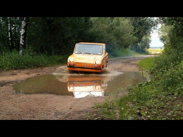 Test drive СМЗ С3Д (microcar SMZ S3D) Belarus