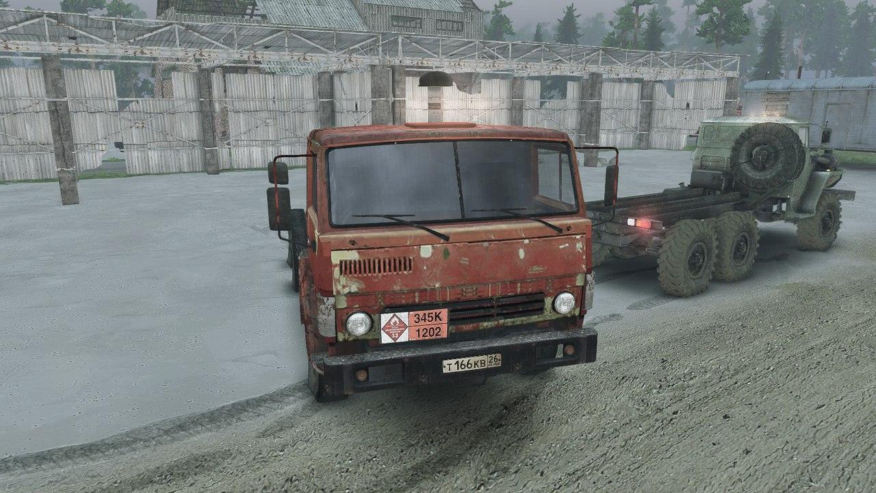 КамАЗ-55102 для версии 13.04.15 для Spintires - Скриншот 1