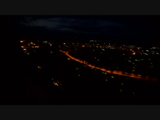 Полёт над ночным Мурманском