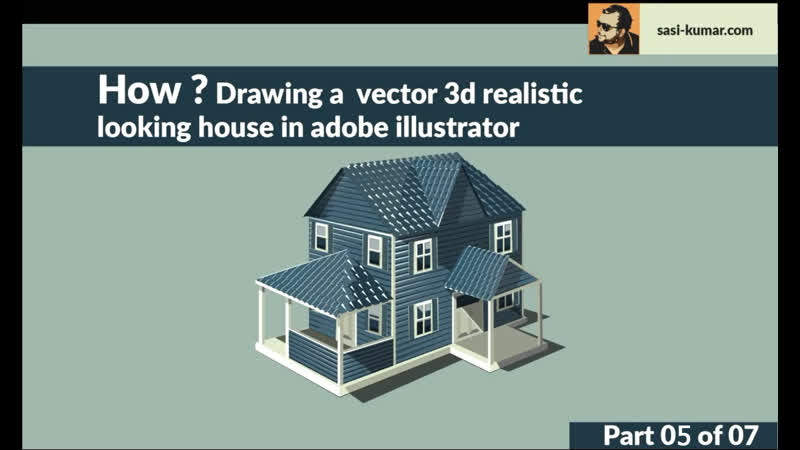 Drawing Production level vector House in adobe illustrator - Step 05- Drawing Tiled Roof