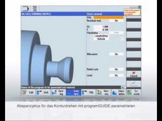 SINUMERIK Tutorial - Programmierung Drehen Siemens CNC-Programmiersprache mit programGUIDE