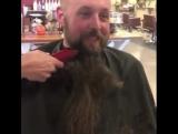 When beard on turns to beard off. Heart breaking. But he looks better