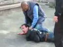 Crazy man stabs ex-wife on street. (Warning: Graphic!)