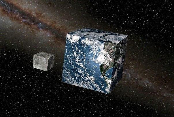 А что, если земля была бы не шаром, а кубом Земля на самом деле довольно круглая. Это не самая круглая вещь в мире, но около того. Если бы Земля была размером с баскетбольный мяч, то наши горы и