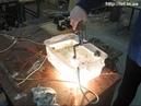 Горение угольных электродов в воде. Combustion of carbon electrodes in water.
