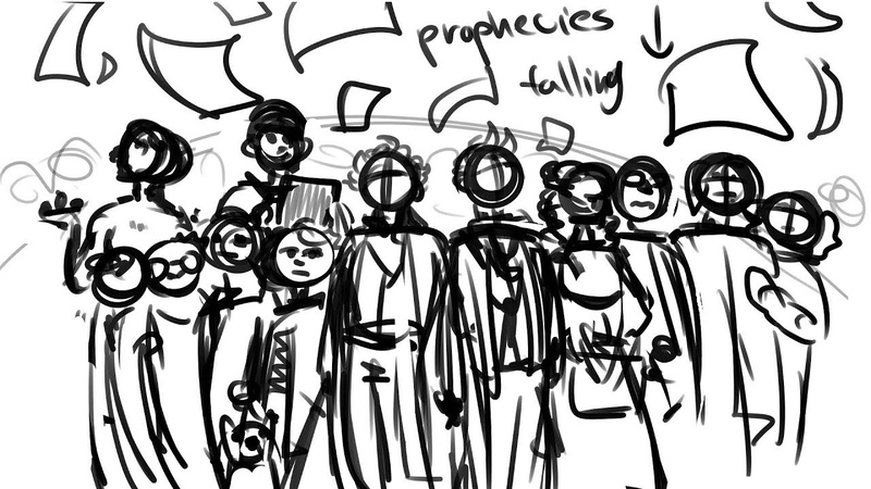 WIP the riddle good omens animatic please read description