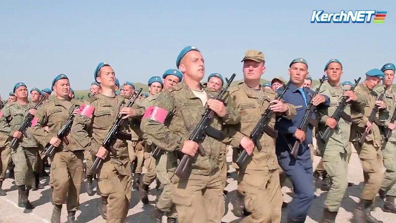 В керченском аэропорту военные готовятся к Параду Победы