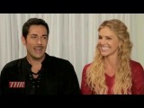 Zachary Levi and Tricia Helfer - Titans of Comic-Con Photoshoot