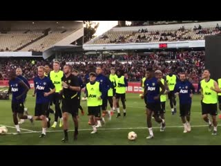 United out for training mufc