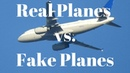 Blue Sky, The Moon, Real Planes and Projected Layer Hoax Planes