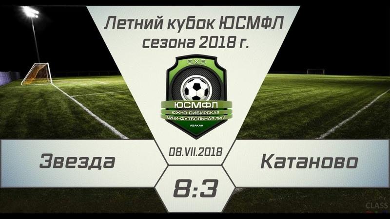 Летний кубок ЮСМФЛ 5Х5 2018 Звезда Катаново 8 3 08 07 2018 Обзор