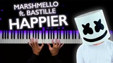 Marshmello ft. Bastille - Happier | На пианино | Как играть?