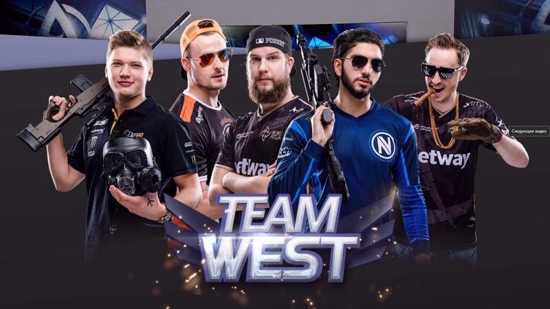 СИМПЛ катает ШОУ МАТЧ на ДАСТЕ 2 против ВОСТОКА | Team West vs Team East | de_dust2 | Show Match